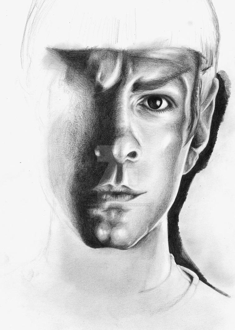 Zachary Quinto as Spock WIP by Carrie-Tempest