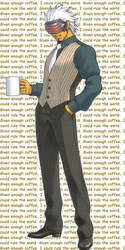 Godot and his coffee by schlo