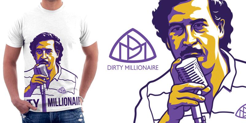 Pablo Escobar t-shirt by Cloxboy