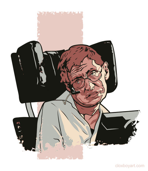 Stephen Hawking by Cloxboy