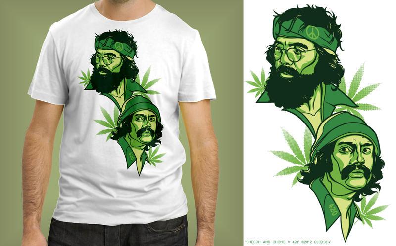 Cheech And Chong T Shirt Design
