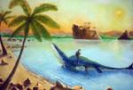 tylosaurus-slow death