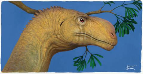 Plateosaurus portrait. by tnilab-ekneb121