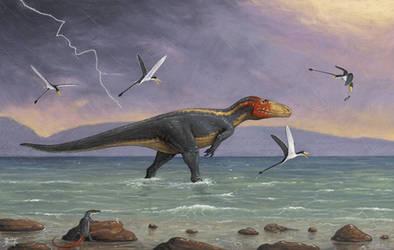 Eustreptospondylus by tnilab-ekneb121