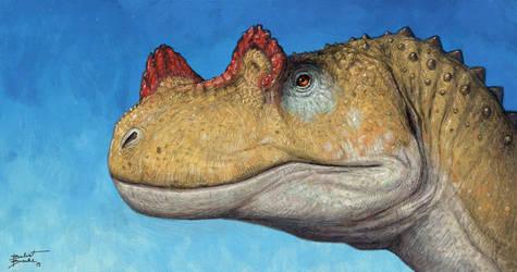 Ceratosaurus portrait