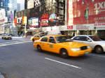 New York Cab Times Square