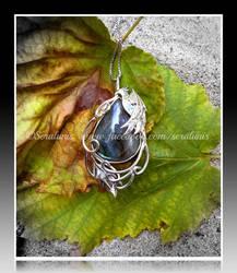'Phoenix tears' sterling silver pendant SOLD