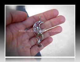 'Moonlight song' handmade sterling silver pendant