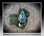 'Frozen flames' handmade silver pendant SOLD