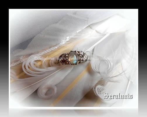 'Luna' handmade sterling silver ring