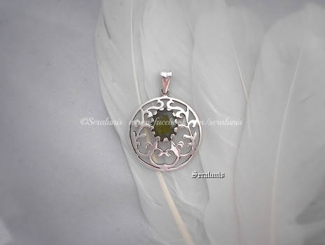 'Sunna's wish', handmade sterling silver pendant