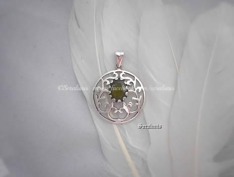 'Sunna's wish', handmade sterling silver pendant
