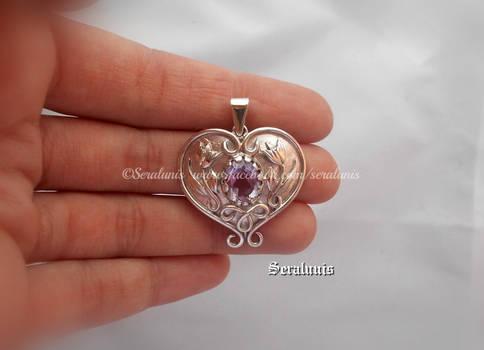 'Forever love' handmade sterling silver pendant