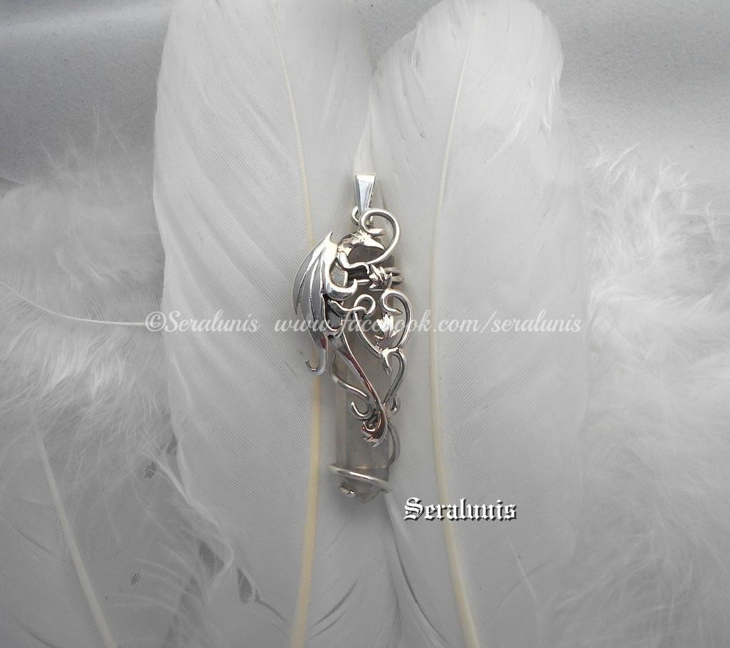 'Dragon soul', handmade sterling silver pendant by seralune