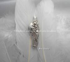 'Dragon soul', handmade sterling silver pendant