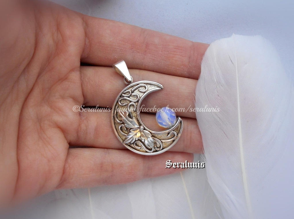 Lunaris handmade sterling silver pendant by seralune on deviantart lunaris handmade sterling silver pendant by seralune audiocablefo