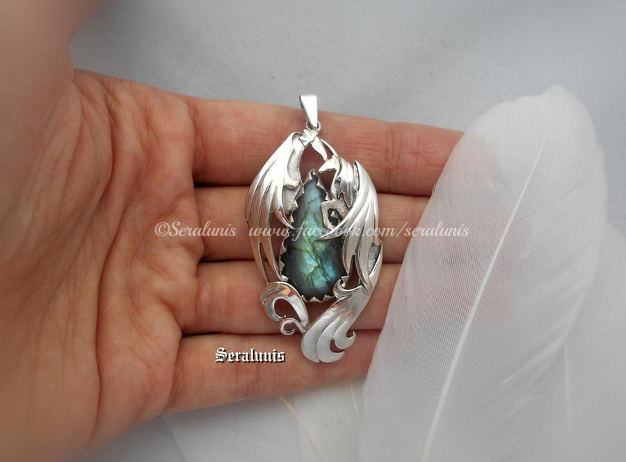One more kiss handmade sterling silver pendant by seralune on one more kiss handmade sterling silver pendant by seralune aloadofball Gallery