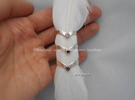 'Moon Tiara rings', handmade sterling silver rings by seralune