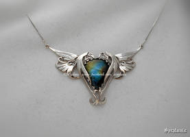 'World of dragons', sterling silver necklace