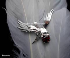 'Precious love', handmade sterling silver pendant by seralune