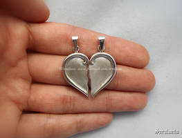 'My love', handmade sterling silver pendants by seralune