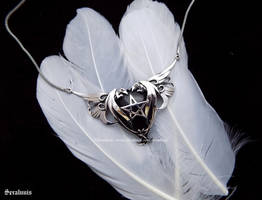 'Power of Dragons', sterling silver necklace