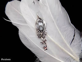 'New life', handmade sterling silver pendant by seralune