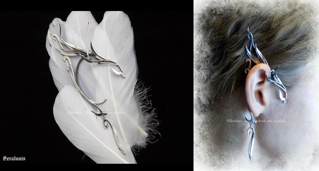 'Elven whisper', handmade sterling silver earcuff by seralune