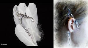 'Elven whisper', handmade sterling silver earcuff
