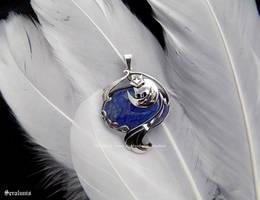'Kamisama Kiss', handmade sterling silver pendant by seralune