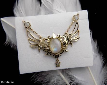 'Daydreamer's Star', handmade brass necklace