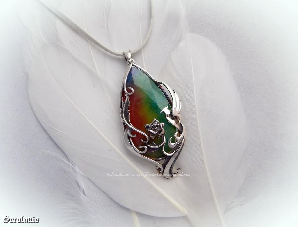 'Paradise', sterling silver pendant FOR SALE by seralune