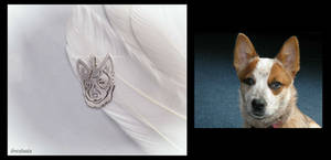 'Lovely doggy', handmade sterling silver pendant
