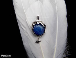'Dragon vein', handmade sterling silver pendant