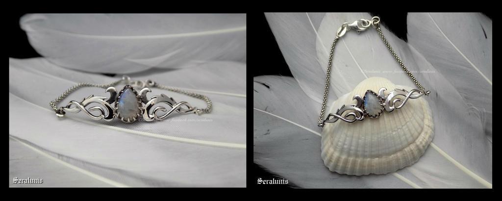 'Elven harmony', sterling silver bracelet by seralune