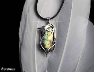 'Wonderland', handmade sterling silver pendant by seralune
