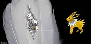 'Jolteon', handmade sterling silver pendant