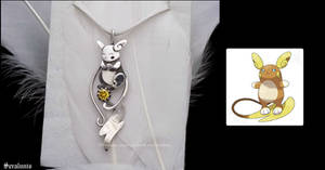 'Alolan Raichu', handmade sterling silver pendant