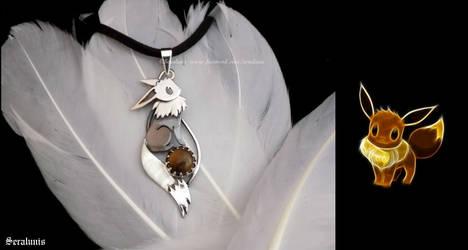 'Eevee', handmade sterling silver pendant