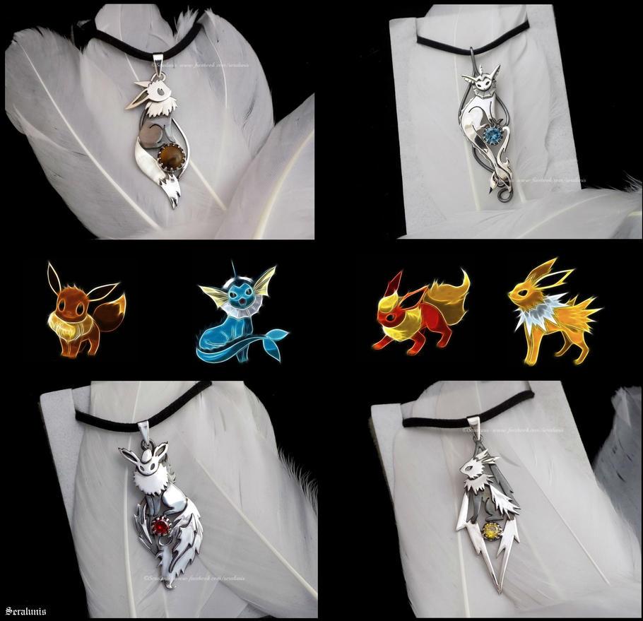 'Gotta catch 'em all', sterling silver pendants by seralune