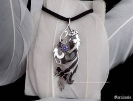 'Illumi', handmade sterling silver pendant by seralune