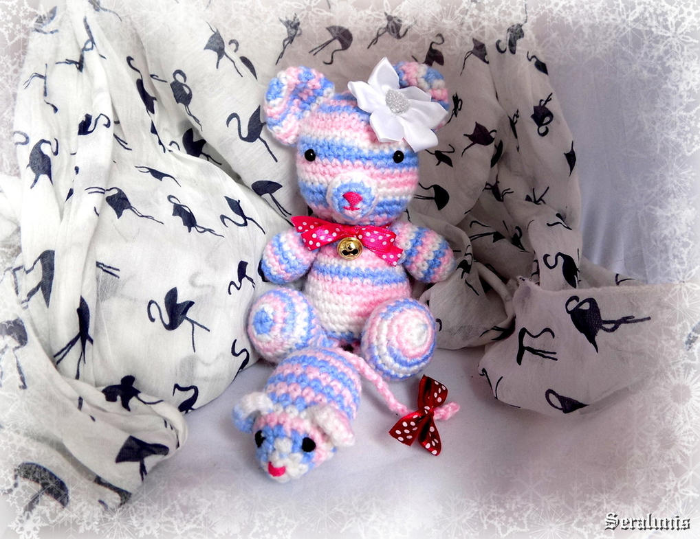 'Emily's teddy', amigurumi by seralune