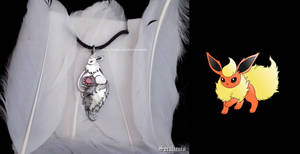 'Flareon, I choose you', sterling silver pendant