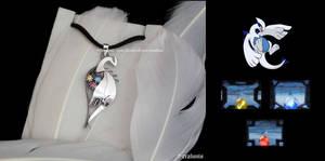 'Three Treasures' handmade sterling silver pendant