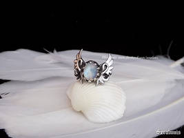 'Angel's Light', handmade sterling silver ring by seralune