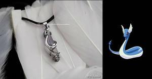 'Dragonair with Amethyst' sterling silver pendant