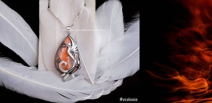 Reviving Flames' sterling silver necklace
