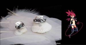 'Disgaea', handmade sterling silver rings by seralune