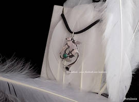 'Trico with malachite',sterling silver pendant