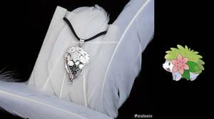 'Shaymin' handmade sterling silver pendant